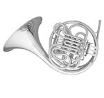 RS BERKELEY SILVER DOUBLE FRENCH HORN
